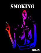Smoking Cigarette Posters - Smoking kills  Poster by Stefan Kuhn