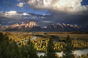 Grand Tetons Posters - Snake River Morning Poster by Andrew Soundarajan