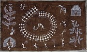 Indian Tribal Art Paintings - Snm 08 by Sunita Sadashiv Mashe