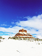 Bell Rock Vortex Framed Prints - Snowy Bell rock Framed Print by Gary Wonning