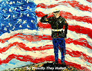Pallet Knife Art - So Proudly They Hailed  by Mark Moore