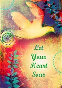 Positive Affirmation Mixed Media Prints - Soar Free Print by Tara Catalano