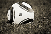 Soccer Ball Framed Prints - Soccer Framed Print by Scott Pellegrin