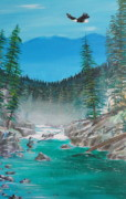 John Lyes Originals - Solitude on the Chehalis  by John Lyes