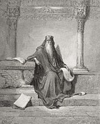 Wisdom Drawings - Solomon by Gustave Dore