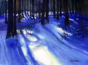 January Painting Prints - Solstice Shadows Print by Kris Parins