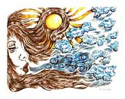 Soothing Breeze Print by Karen Sirard