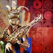Aboriginal Art Painting Posters - South Asian Art Poster by Corporate Art Task Force