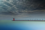 South Haven Framed Prints - South Haven Lighthouse Framed Print by Todd Bielby