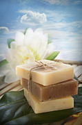 Sud Prints - Spa natural soaps Print by Mythja  Photography