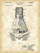 Gemini Digital Art - Space Capsule Patent by Stephen Younts