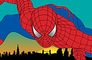 Cartoon Characters Framed Prints - Spiderman  Framed Print by Mark Ashkenazi
