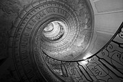 Spiral Staircase Metal Prints - Spiral Staircase Metal Print by Chevy Fleet