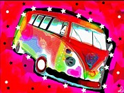 60s Mixed Media - Splitty 2 by David Rogers