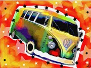 Vdub Framed Prints - Splitty Framed Print by David Rogers