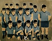 Soccer Painting Framed Prints - Spock Soccer Team Framed Print by Tommervik