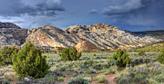 Southwest Landscape Art - Spring Storm over Split Mountain Dinosaur National Monument by Gary Whitton