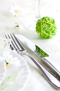 Banquet Prints - Spring table setting Print by Mythja  Photography