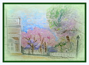 Featured Pastels Prints - Springtime in the Park Print by Patricia Blanton