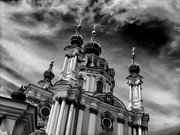 Onion Domes Photos - St Andrew in Kiev by Mountain Dreams