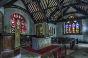 Stained Glass Windows Photos - St Digains by Ian Mitchell