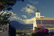 St. Joseph Catholic Church Kaupo Maui Hawaii Print by Sharon Mau