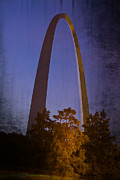Jefferson National Expansion Memorial Posters - St Louis Arch at Night Poster by Garry McMichael