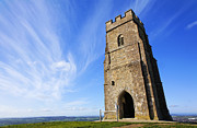 Tor Posters - St Michaels Tower Glastonbury Tor Poster by Robert Preston