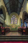 Benches Prints - St Thomass Church Print by Ian Mitchell