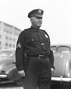 Stadium Cop At Yankees Stadium Print by Retro Images Archive