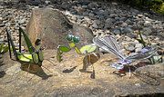 Dragonfly Glass Art - Stained Glass Critters by Michelle Lodge by Studio One Seventy Two