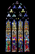 Stained Glass Window Photos - Stained Glass Window in the Seville Cathedral by Artur Bogacki