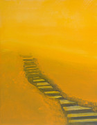 Steps Painting Posters - Stairway Number Five Poster by Christine Campbell