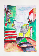 Zeppelin Painting Originals - Stairway to Heaven by Carol Schindelheim