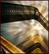 Bannister Digital Art Posters - Stairway to Heaven Poster by Ellen Cannon