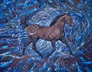 Terry Digital Art Posters - Stallion Storm Poster by Terry Sita