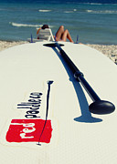Action Prints - Stand Up Paddle Boards Print by Stylianos Kleanthous