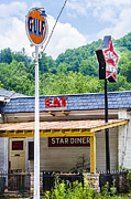 Small Town Life Framed Prints - Star Diner Framed Print by Carolyn Marshall