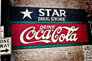 Painted Walls Prints - Star Drug Store Wall Sign Print by Scott Pellegrin