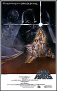 Movie Digital Art Metal Prints - Star Wars Poster Metal Print by Sanely Great