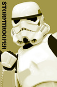 Singular Framed Prints - Star Wars Stormtrooper Framed Print by Tommy Hammarsten
