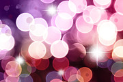 Blurry Lights Prints - Starry background Print by Les Cunliffe