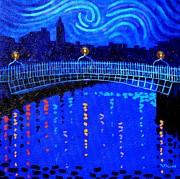 Starry Night In Dublin Print by John  Nolan