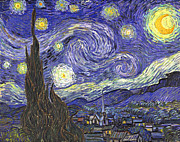 Roz Barron Abellera-Vincent Van Gogh - Starry Night Reproduction