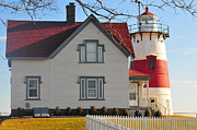Stratford Acrylic Prints - Startford Point Light Acrylic Print by Catherine Reusch  Daley