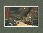 Virginia Postcards Posters - State Street Bristol Va TN 1920s - 30s Poster by Denise Beverly