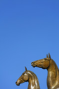 Independence Park Posters - Statue of Horses in Ashgabat Turkmenistan Poster by Robert Preston