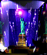 Abstract Sights Metal Prints - Statue of Liberty Metal Print by Daniel Janda