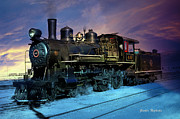 Gunter Nezhoda Prints - Steam engine Nevada Northern Print by Gunter Nezhoda