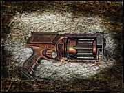 Police Metal Prints - Steampunk - Gun - The Multiblaster Metal Print by Paul Ward